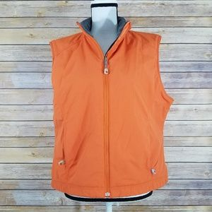 LL Bean XL Womens Orange Lined Vest